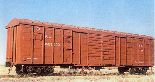 covered railway wagon